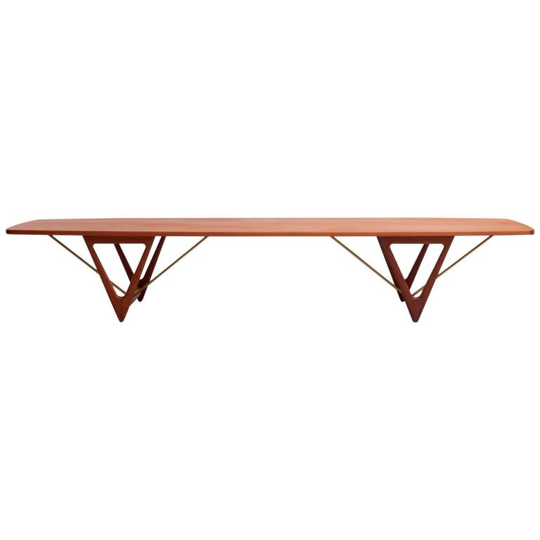 extra large kurt ostervig surfboard coffee table at 1stdibs