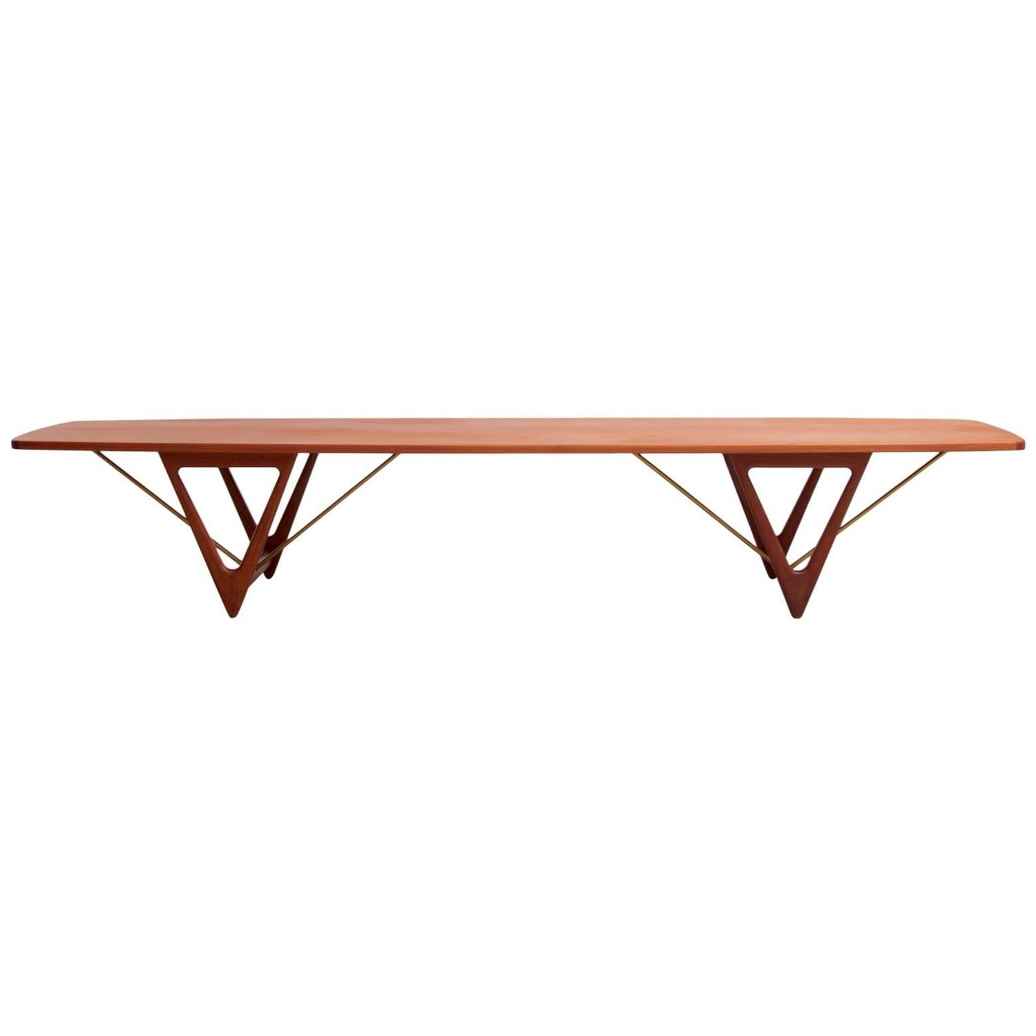 Extra Large Kurt Ostervig Surfboard Coffee Table For Sale At 1stdibs