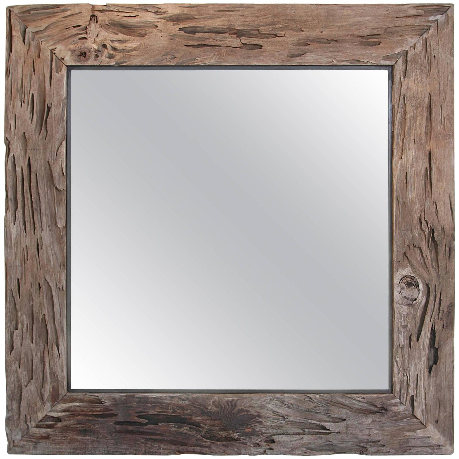 Organic cypress decorative wall mirror for sale at 1stdibs for Decorative wall mirrors for sale