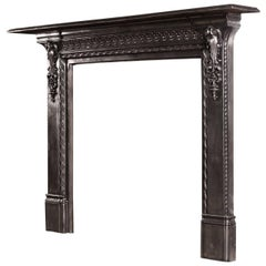 Mid-19th Century English Cast Iron Fireplace
