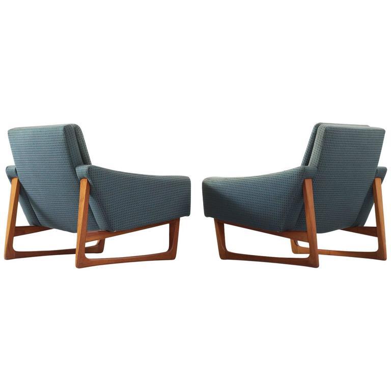 Set of Two Scandinavian Lounge Chairs