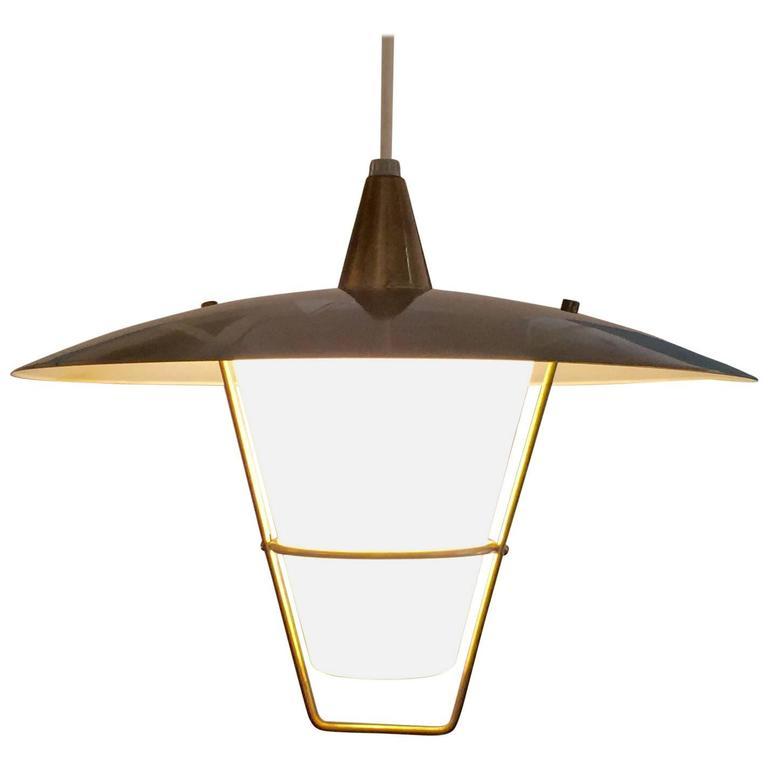 1960s Modernist Lightolier Pendant Light