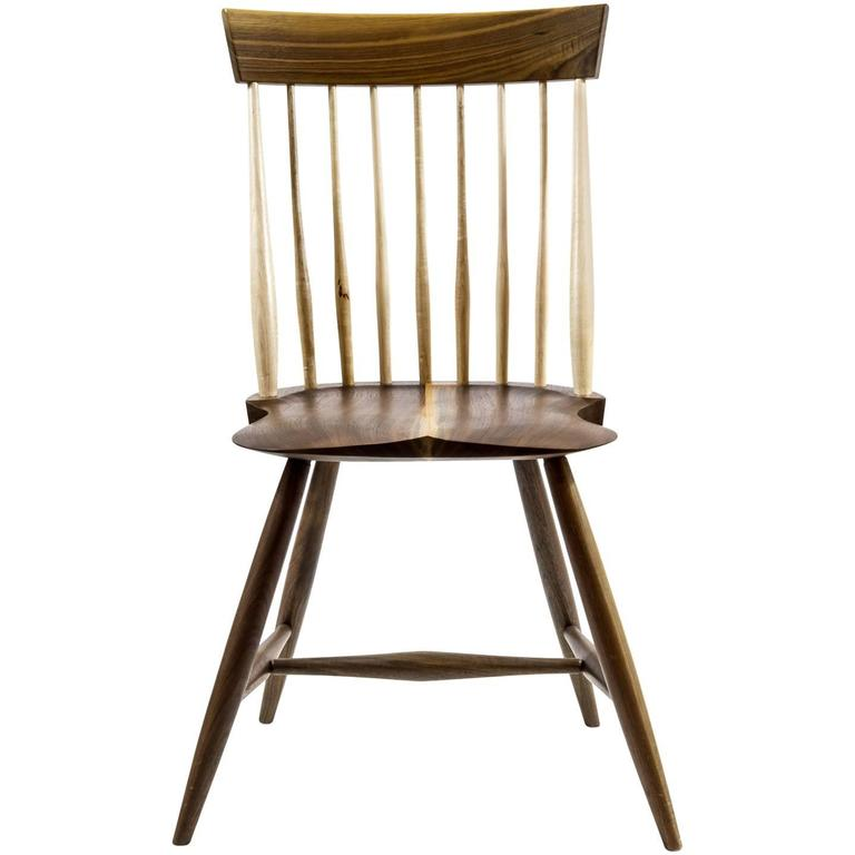 Shimna Berkshire Side Chair in Walnut with Maple Details For Sale