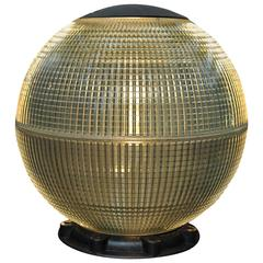 Large Glass Holophane Globe Street Light in Desk or Table Light