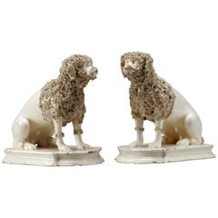 A Pair of Italian Creamware Poodles