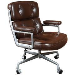 Time Life Chair by Charles and Ray Eames in Rich Brown Leather