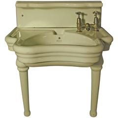 Rare English Barber Shop Wash Basin or Sink by Elegan