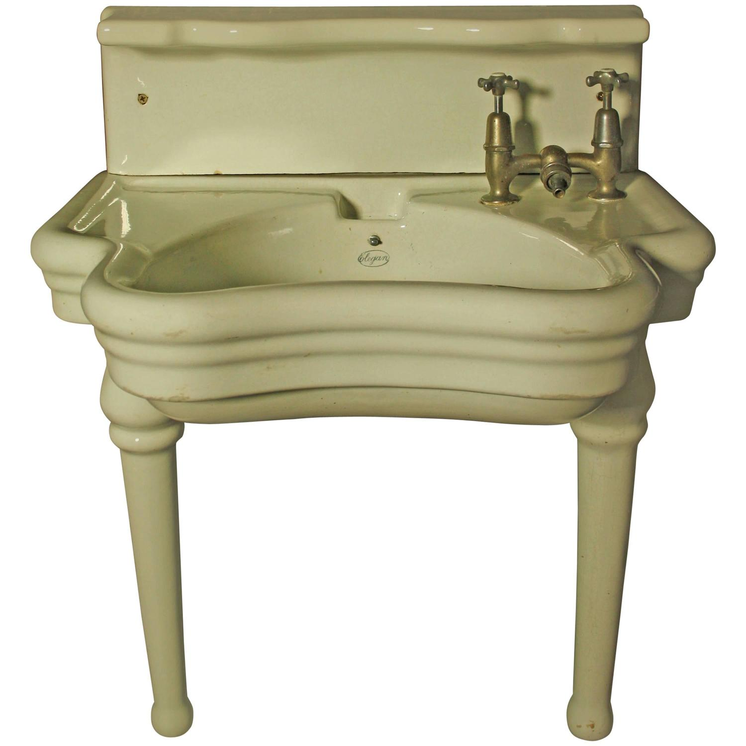 Rare English Barber Shop Wash Basin or Sink by Elegan For Sale at ...