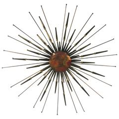 Striking Sunburst Wall-Mounted Sculpture by Curtis Jere