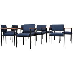 Set of Eight Executive Armchairs Attribute to Gijs Van Der Sluis