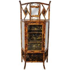 Fine 19th Century English Lacquer Bamboo Cabinet