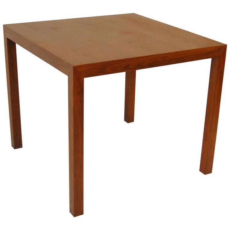 Mid-Century Modern Parsons Style Walnut Game Table by Edward Wormley for Dunbar