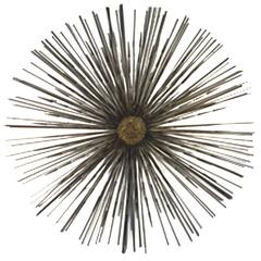 Exceptional Curtis Jere Starburst Wall-Mounted Dimensional Sculpture