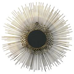 Stunning and Dramatic Sunburst Wall-Mirror by Curtis Jere