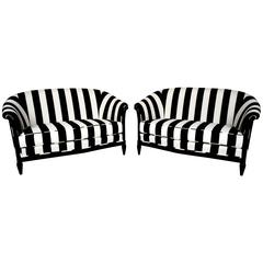 Pair of 1930s French Art Deco Settees