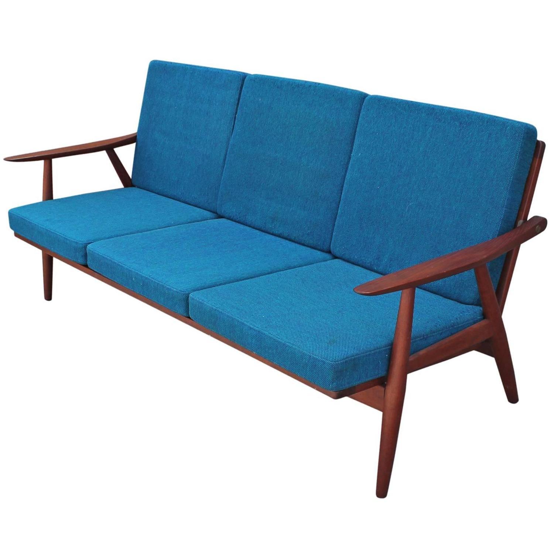 """Hans Wegner Model GE 270 Three Seat """"Cigar"""" Sofa at 1stdibs"""