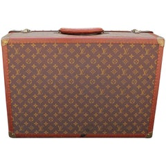 Elegant Vintage Louis Vuitton Monogram Suitcase Luggage