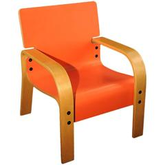 Orange Mid-Century Armchair