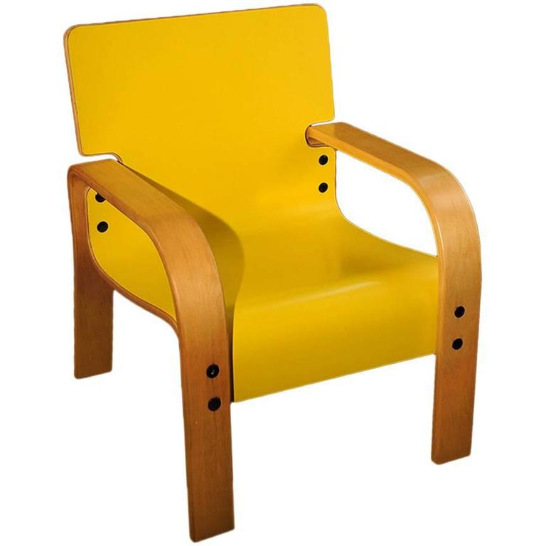 Yellow Mid-Century Armchair