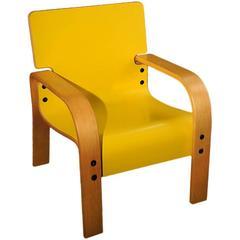Yellow Mid-Century Armchair