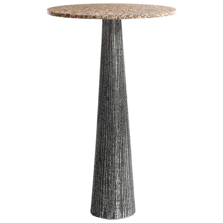 Brutalist Occasional Table in the Style of Paul Evans