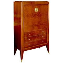 Very Fine Secretaire Cabinet of an Original Office Duo by Alfred Porteneuve