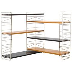 Rare Sonja Swedish Standing Wire Bookshelf Unit
