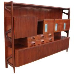 Monumental and Incredible Italian Sculptural Wall Unit or Sideboard
