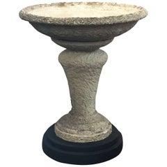 Large English Decorative Garden Stone Planter on Stand (H 39 3/4)