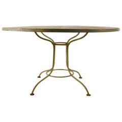 Round Metal Mesh Top Garden Table