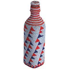20th Century Prestige Beaded Glass Bottle