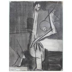 Charcoal Drawing by Flo Shapiro, 1957