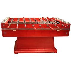 Red Foosball Table, 1970s