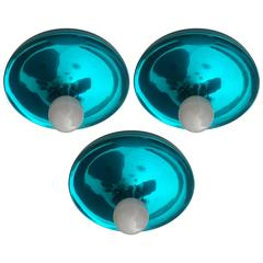 Set of Three Space Age German Flush Ceiling Lights