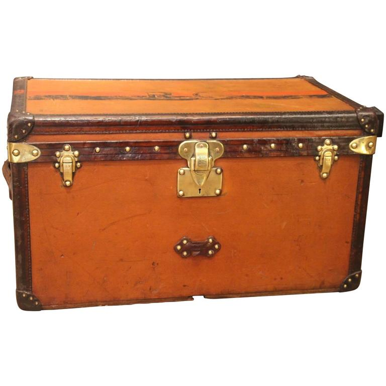 Lv Trunk Coffee Table: Small Louis Vuitton Orange Steamer Trunk,Malle Louis