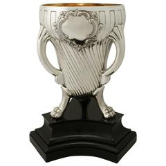 Sterling Silver Champagne Cup, Antique Victorian