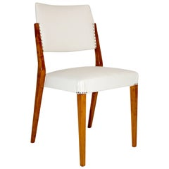 Mid Century Modern Wood White Vintage Chair by Karl Schwanzer, Vienna, 1953