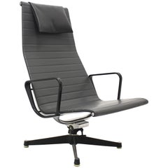Mid Century Modern Vintage Aluminium Lounge Chair by Ray & Charles Eames, 1958