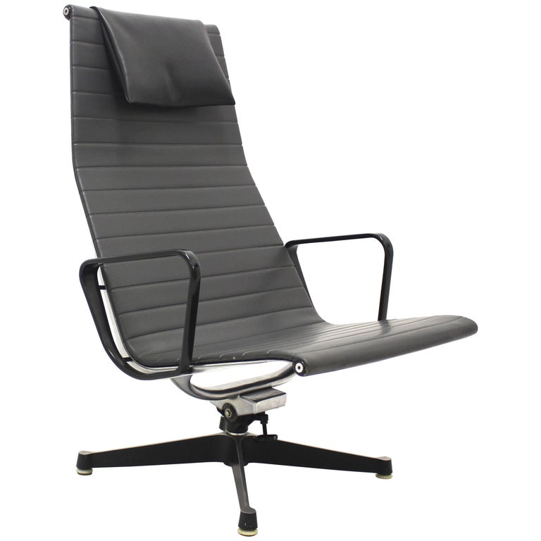 Mid Century Modern Vintage Aluminium Lounge Chair by Ray & Charles Eames, 1958 For Sale