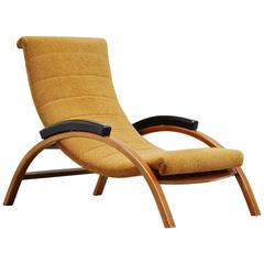 Unusual Italian Lounge Chair Adjustable, 1950