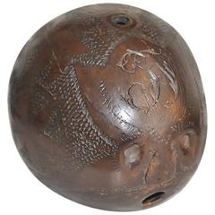 18th Century Carved Coconut