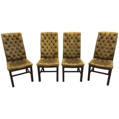 Set of Chesterfield Dining Chairs