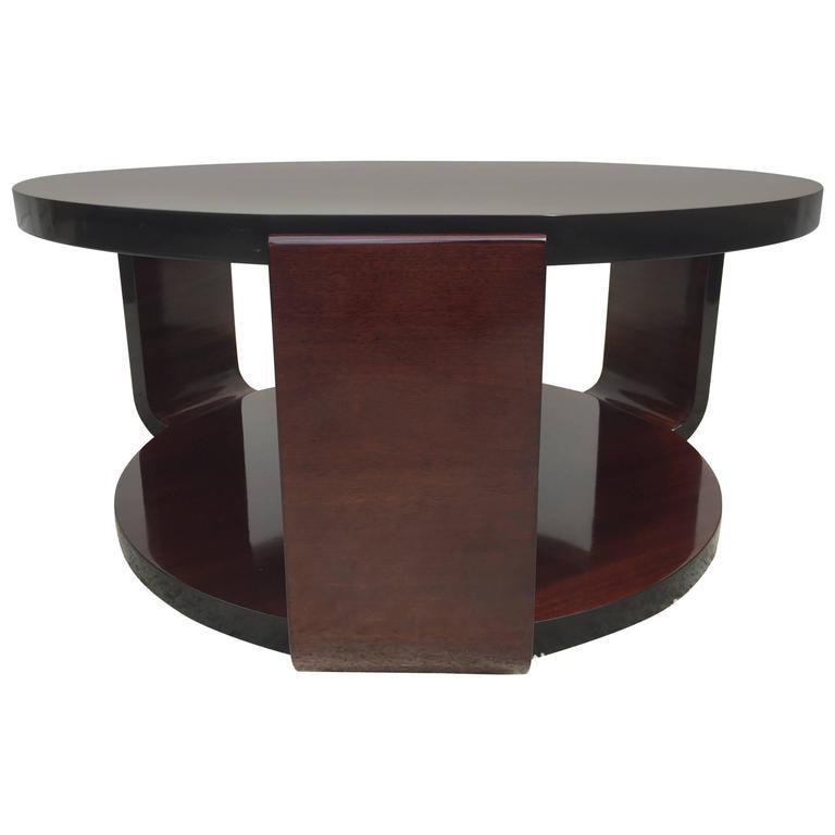 Art Deco Brown Saltman Coffee Table