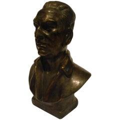 Juan Domingo Peron Bronze Bust of Evita