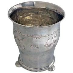 Antique Scandinavian Silver Beaker, circa 1852