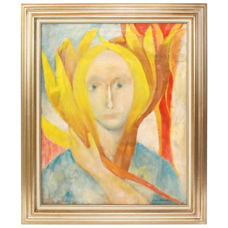 Louis Wolchonok Portrait Painting For Sale