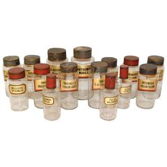 Set of 15 Apothecary Glass Jars