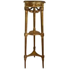 Louis XVI Style Gilded Pedestal
