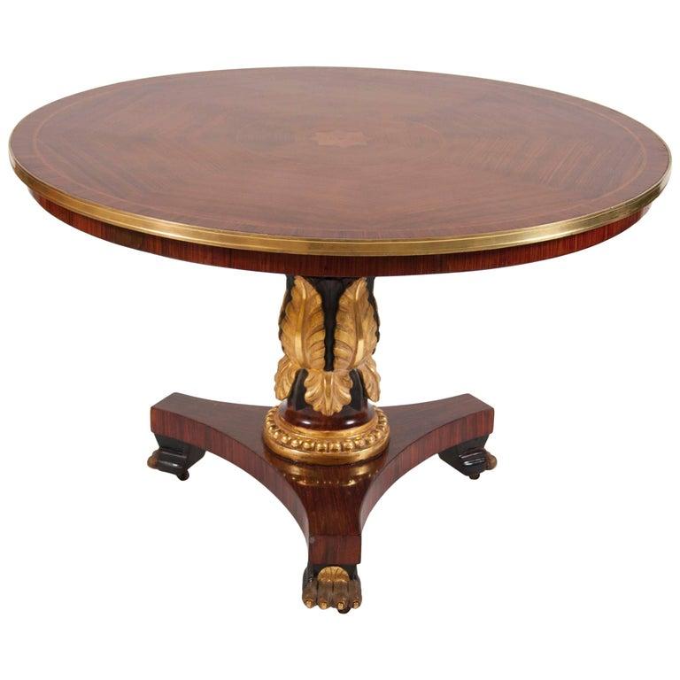 English Regency Mahogany Center Table For Sale