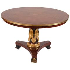 English Regency Mahogany Center Table